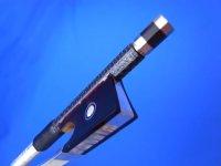 Yin Guohua弓工房 トップレベルカーボンファイバ・バイオリン弓 銀装4/4ヤクフロッグ