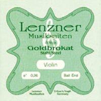 レンツナー・ゴールドブラカット・スチールE線・バイオリン弦 0.25-0.28 Lenzner Goldbrokat Ball & Loop End