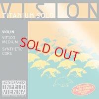 トマステック ビジョン・チタニウムソロ・バイオリン弦 EADG弦セット Thomastik Vision Titanium Solo Vn set