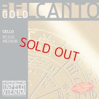 トマスティック ベルカント・ゴールド・チェロ弦 ADGC弦セット Thomastik BELCANTO GOLD Cello String
