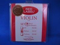 スーパーセンシティブ  レッドラベル・バイオリン弦 EADGセット SS Red Label Violin String Set, 4/4 Size, Medium