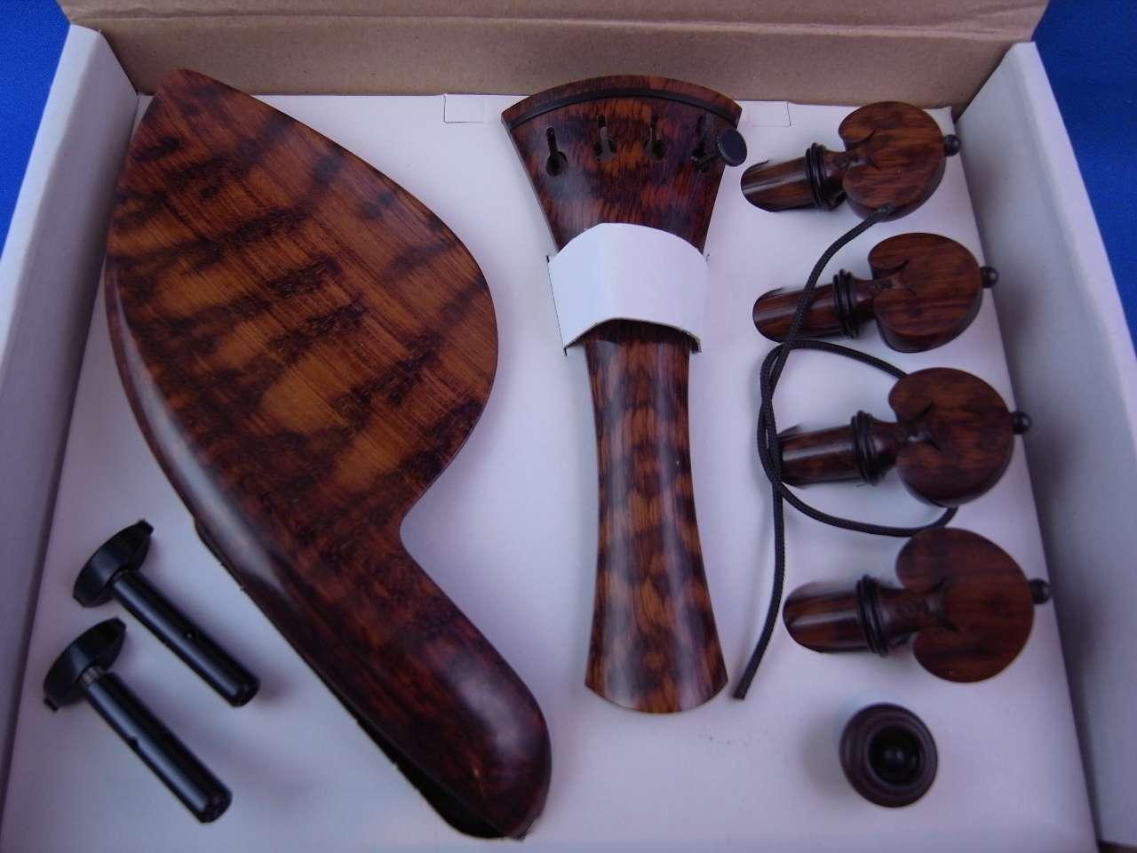 画像1: ボガーロ&クレメンテ バイオリンフィッティング スネークウッド材 フレンチ・モデル ブラックピン Bogaro&Clemente