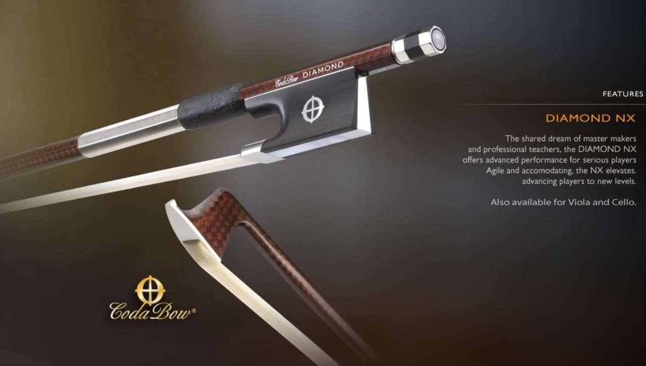 画像1: CODA BOW ダイヤモンドNX カーボンファイバ・バイオリン弓4/4 Coda Bow Violin DIAMOND NX