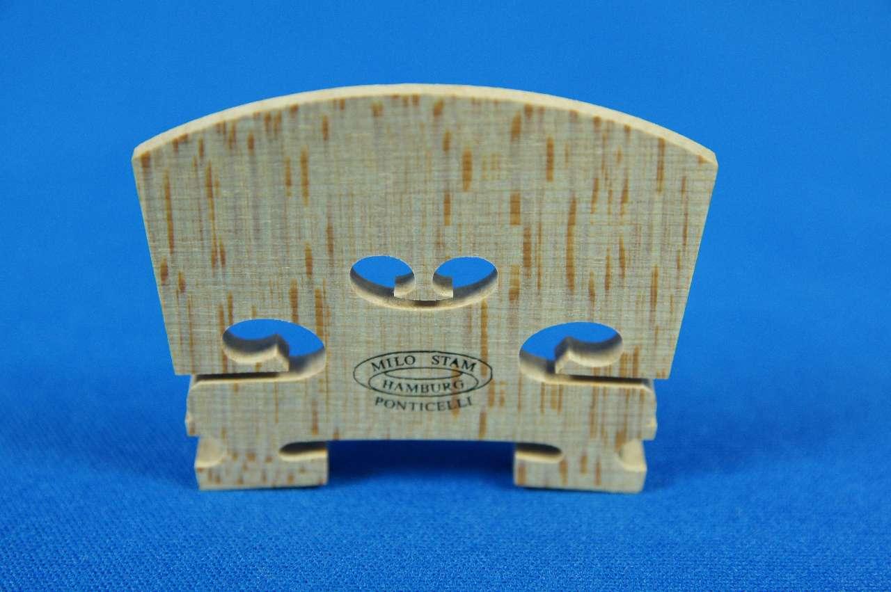 画像1: ミロスタム スタンダードバイオリン駒4/4 Milo Stamm Violin Bridge Standard 4/4 size