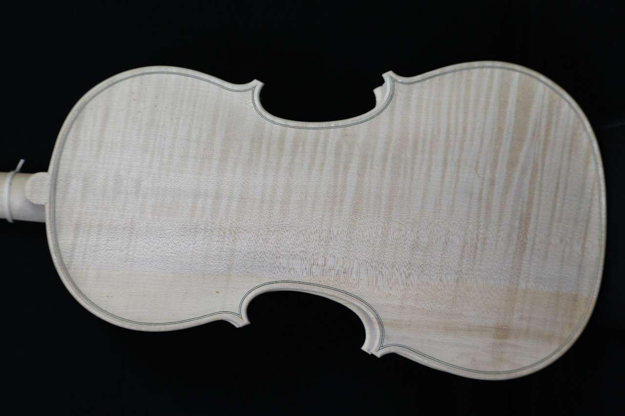 画像1: Ma Zhibin工房アドバンスレベル・ホワイト(白木)・バイオリン