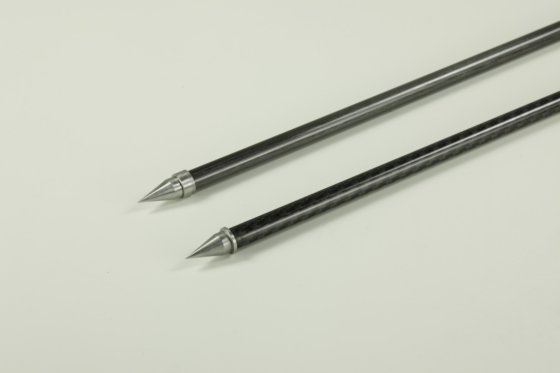 画像1: ソリッドカーボンファイバエンドピン ロッド 直径 8, 10mm New Harmony Music Carbon Fiber Cello Endpin rod with heat-treated metal tip