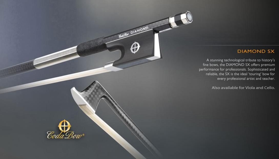 画像1: CODA BOW ダイヤモンドSX カーボンファイバ・バイオリン弓4/4 Coda Bow Vilolin DIAMOND SX