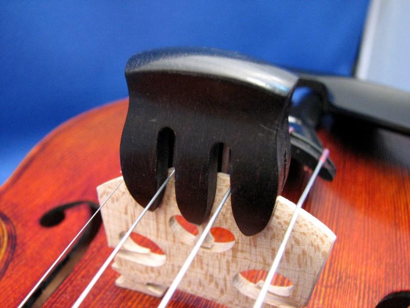 画像1: バイオリンミュート黒檀(エボニー)製 Ebony violin mute