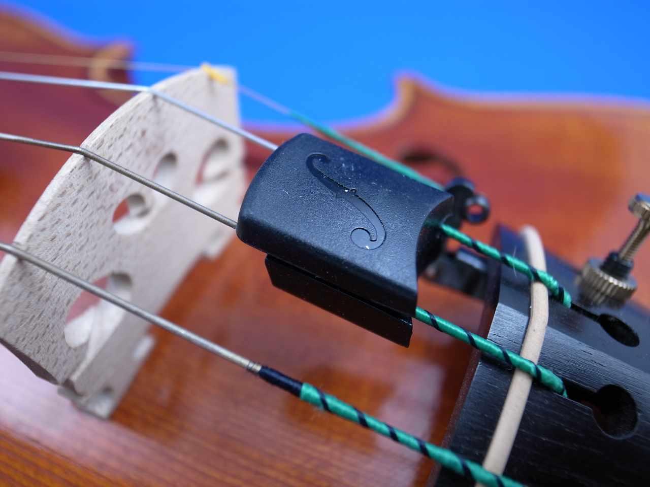 """画像1: スライド・バイオリン・アーティストミュート・トルテ """"Finissima"""" Violin Artist Mute Tourte"""