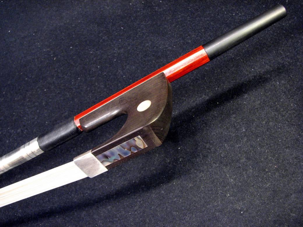 画像1: Yin Guohua弓工房 ファインレベル・ペルナンブーコ・コントラバス弓 ジャーマン 銀装