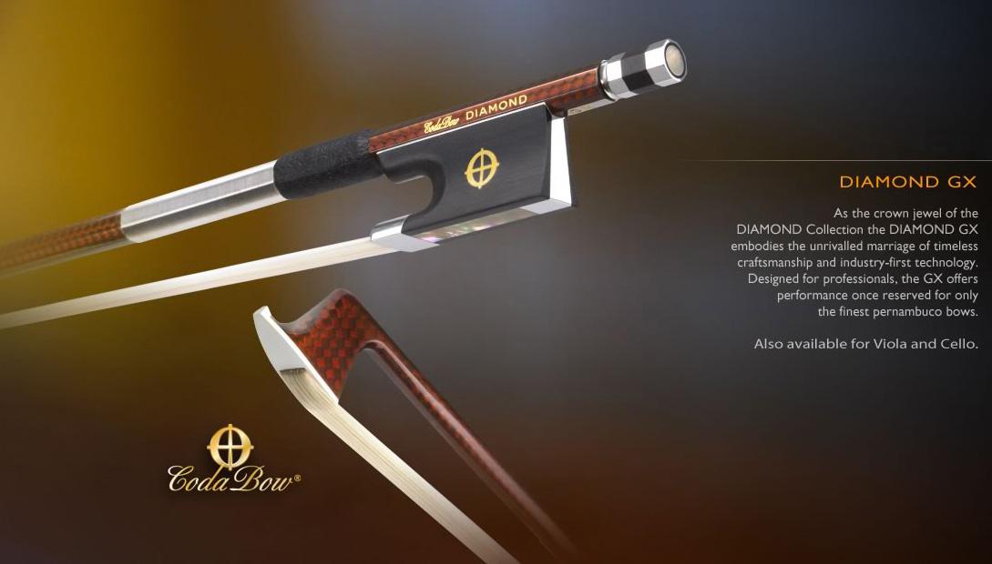 画像1: CODA BOW ダイヤモンドGX カーボンファイバ・バイオリン弓4/4 Coda Bow Violin DIAMOND GX