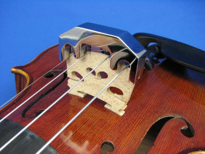 画像1: 最強のブラスバイオリンミュート クロムメッキ Strongest brass mute chrome violin