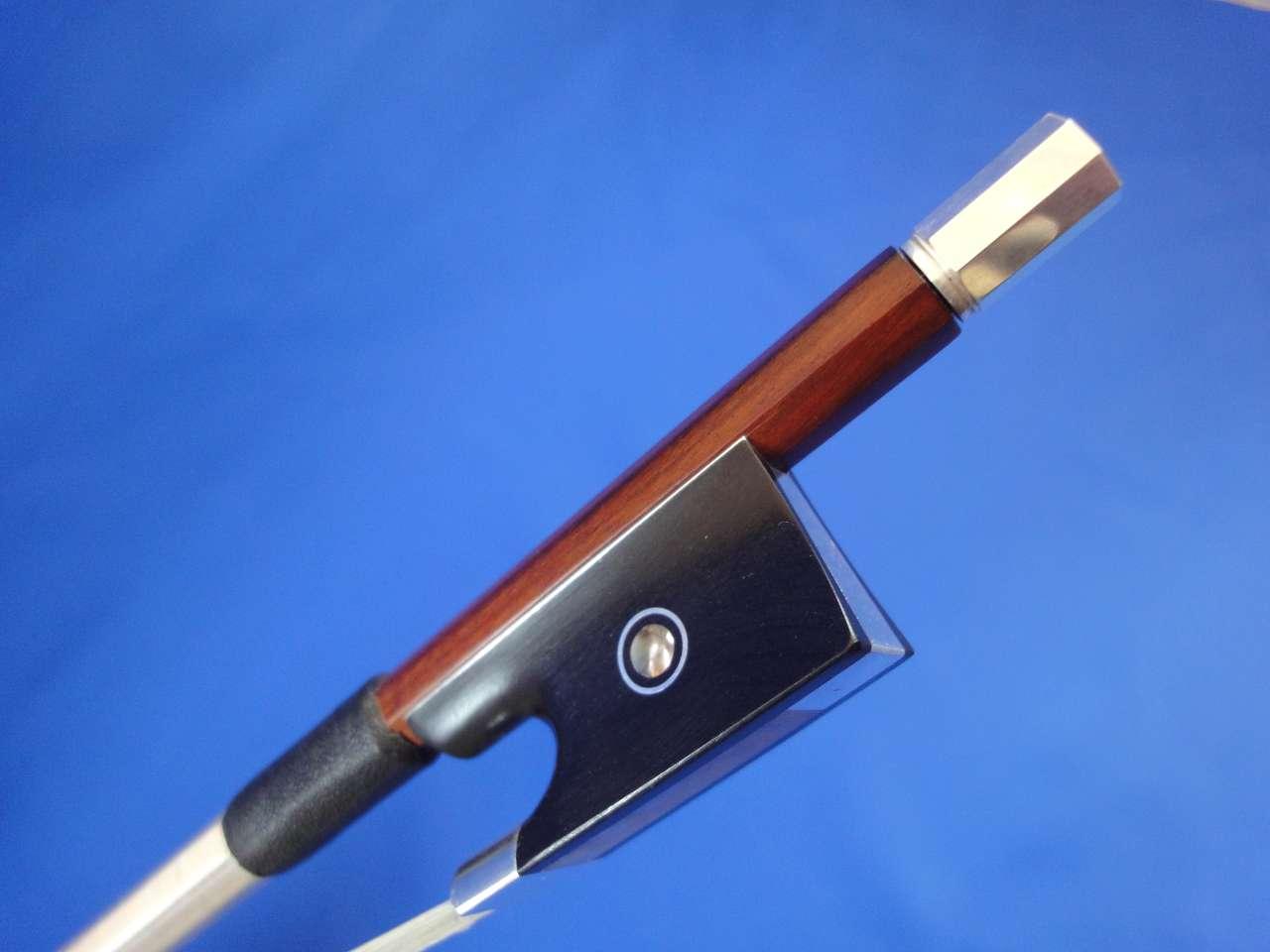 画像1: Yin Guohua弓工房 トップレベルペルナンブーコ・AAA級パリジャンアイシルバー・バイオリン弓